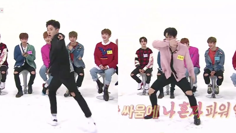 "Watch: JBJ's Noh Tae Hyun Performs Krump Version Of ""Mr. Chu,"" Kim Dong Han Dances To EXO And BTS Hits At 2x Speed"