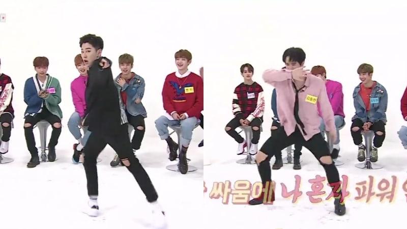 "Watch: JBJ's Noh Tae Hyun Performs Krump Version Of ""Mr. Chu,"" Kim Dong Han Dances To EXO And BTS Hits At 2x Speed"
