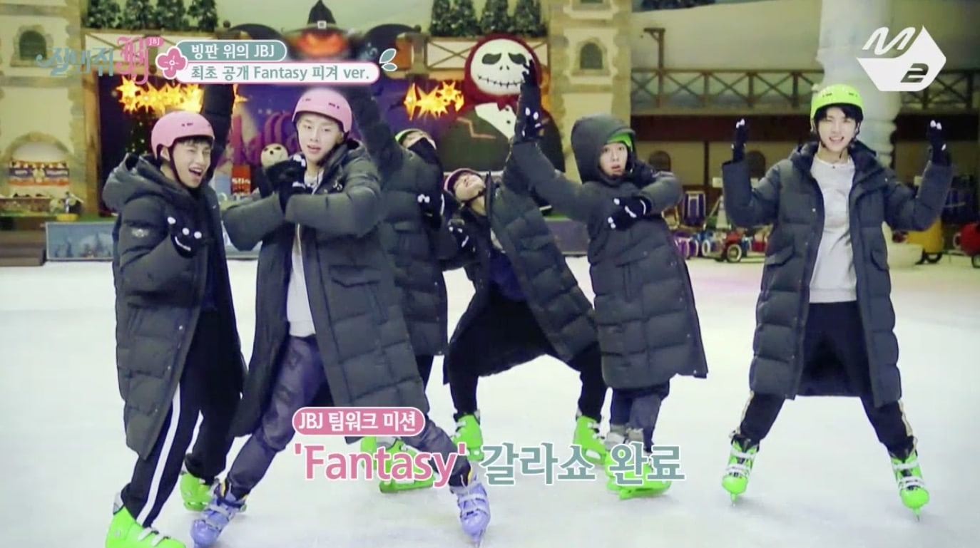 """Watch: JBJ Takes To The Ice To Perform """"Fantasy"""" And Hold Hilarious Sled Race"""
