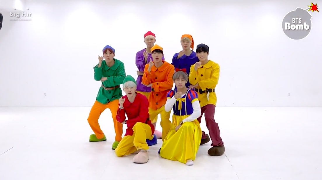 """Watch: BTS Transforms Into Snow White And Six Dwarfs For Halloween """"Go Go"""" Video"""