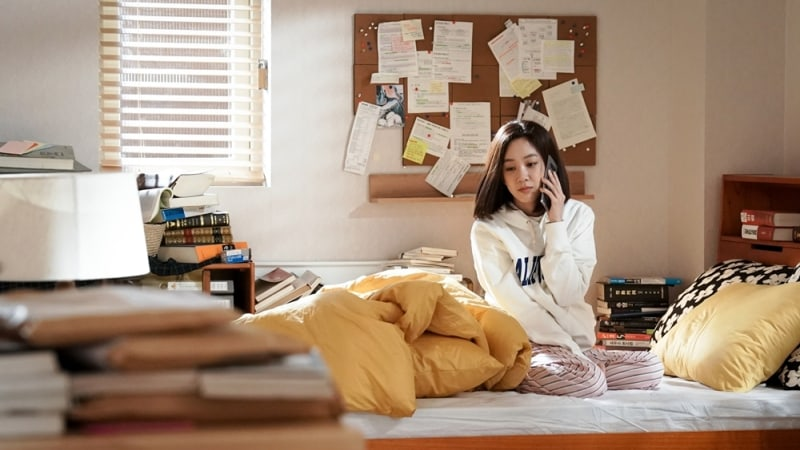 """Witch's Court"" Stills Show Jung Ryeo Won's Realistic Morning In Bed"