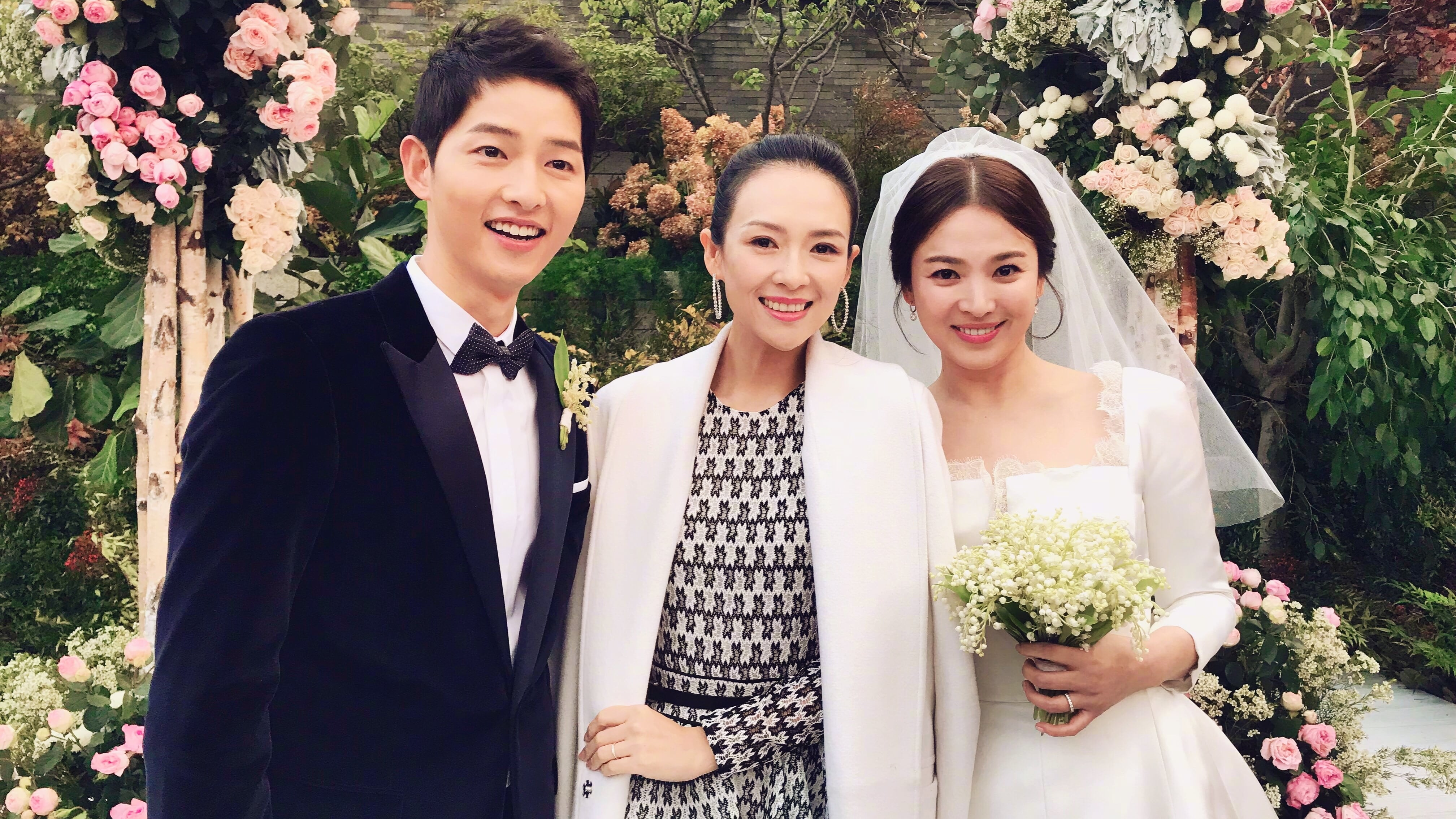 Zhang Ziyi Shares Photos From Song Hye Kyo And Song Joong Ki's Wedding