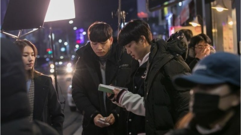 """EXO's Kai Can't Let Go Of His Scripts In Behind-The-Scenes Stills Of """"Andante"""""""