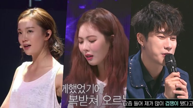 """Watch: JOO Performs On """"The Unit"""" In Front Of Former Labelmates HyunA And San E"""