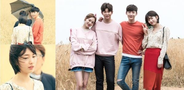 """While You Were Sleeping"" Releases Stills Of Lee Jong Suk, Suzy, Lee Sung Kyung, And Yoon Kyun Sang On Sweet Dates"