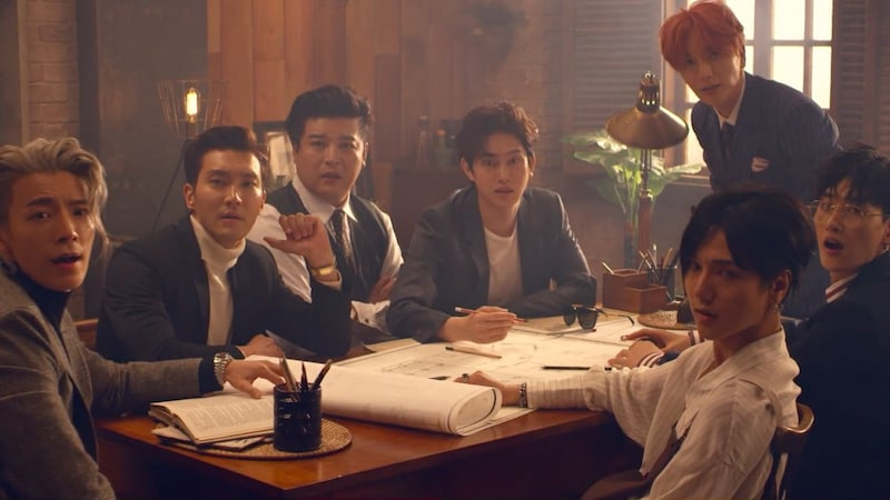 """Watch: Super Junior Makes Long-Awaited Return With MV For """"Black Suit"""" On 12th Anniversary"""