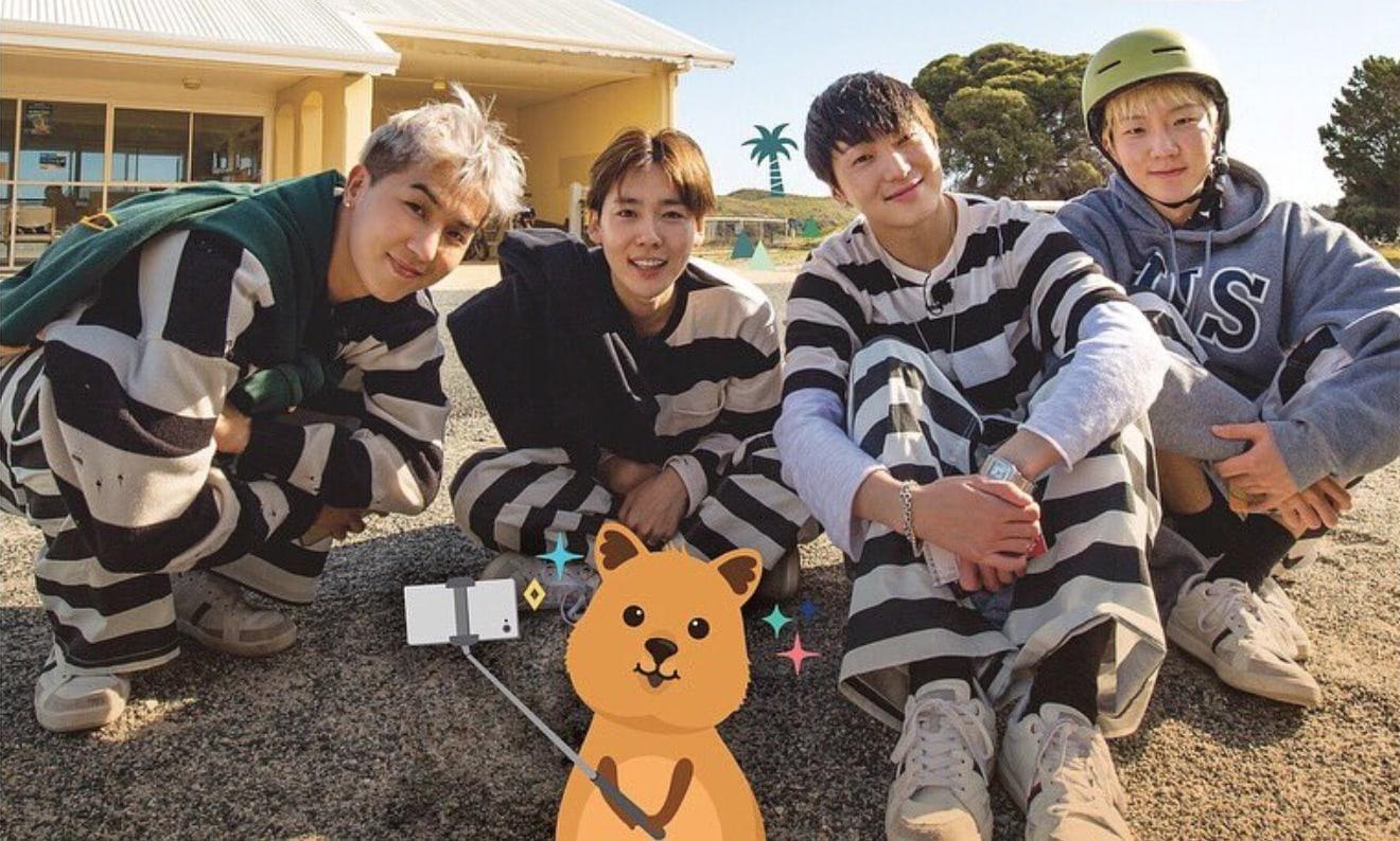Boyband Winner memandu acara Youth Over Flowers musim kelima di Australia. / Gambar: Soompi.io