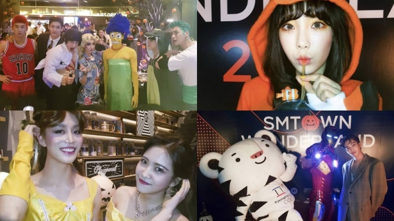 SM Artists Show Off Their Amazing Costumes In New Halloween Party Photos