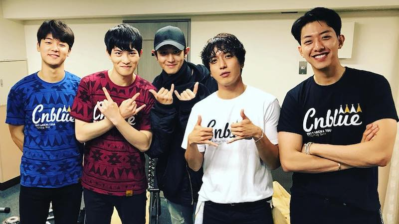 EXO's Chanyeol Shows Support At CNBLUE's Concert In Japan