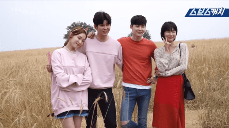 """Watch: Lee Jong Suk, Suzy, Yoon Kyun Sang, And Lee Sung Kyung Are Sweet And Relaxed On """"While You Were Sleeping"""""""