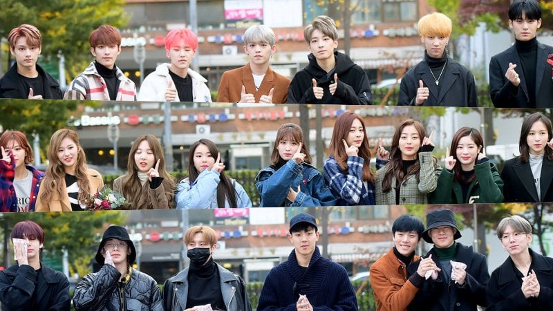 """Watch: SEVENTEEN, TWICE, MONSTA X, And More At """"Music Bank"""" Photo Line"""