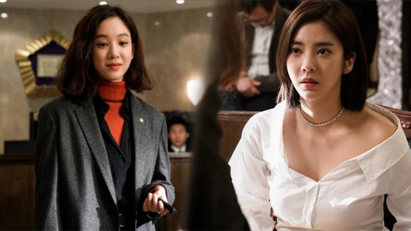 "Jung Ryeo Won Meets Son Dambi In The Courtroom In Intense New Stills For ""Witch's Court"""