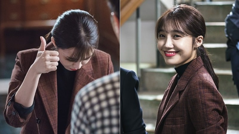 "Jung Eun Ji Is All Smiles Behind The Scenes Of ""Untouchable"""