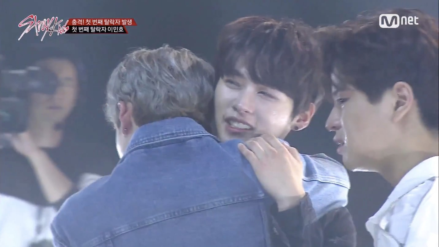 "Watch: JYP's ""Stray Kids"" React Tearfully To First Elimination"