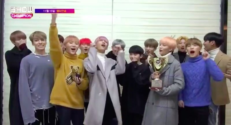 "Watch: SEVENTEEN Grabs 1st Win For ""Clap"" On ""Show Champion"""