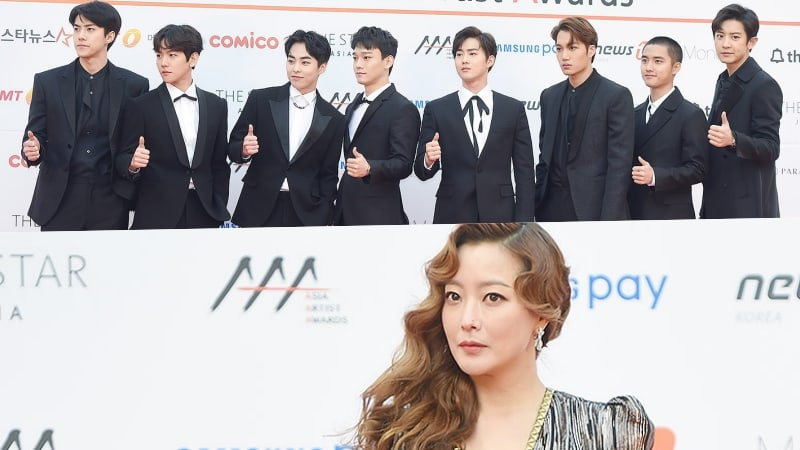 EXO And Kim Hee Sun Take Home Grand Prize Awards At The 2017 Asia Artist Awards