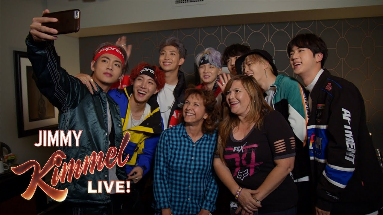"Watch: BTS Surprises Fans And Their Moms At ""Jimmy Kimmel Live"""