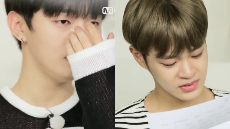 Watch: Wanna One Tears Up Over Gifts From Home