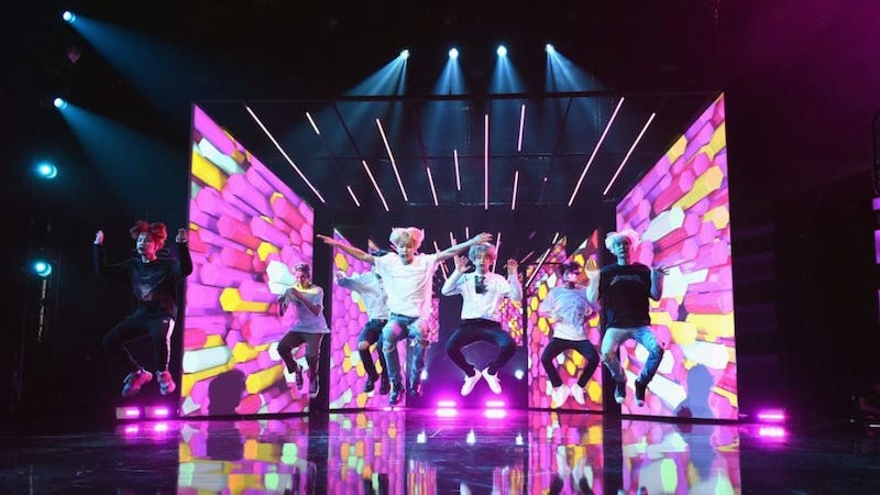 American Music Awards Releases Photos Of BTS Rehearsing For Performance