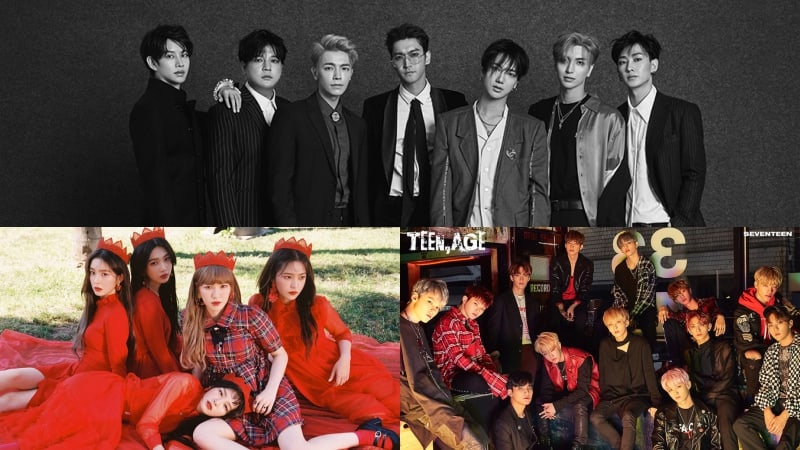 Super Junior Shares Cute Pictures With Red Velvet And SEVENTEEN