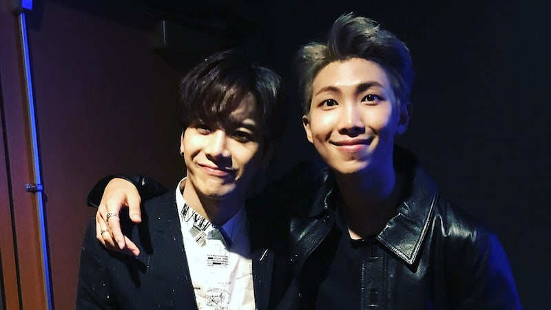 GOT7's Jackson Reunites With BTS's RM At American Music Awards