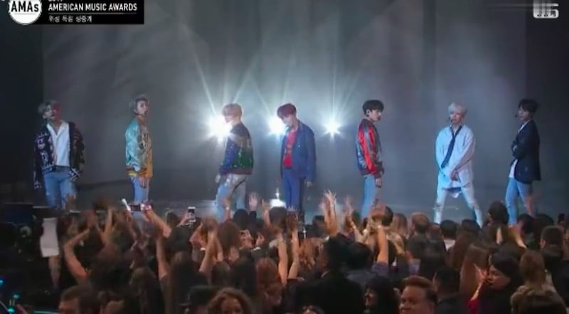 Watch: BTS Stages Incredible U.S. TV Debut Performance At 2017 American Music Awards