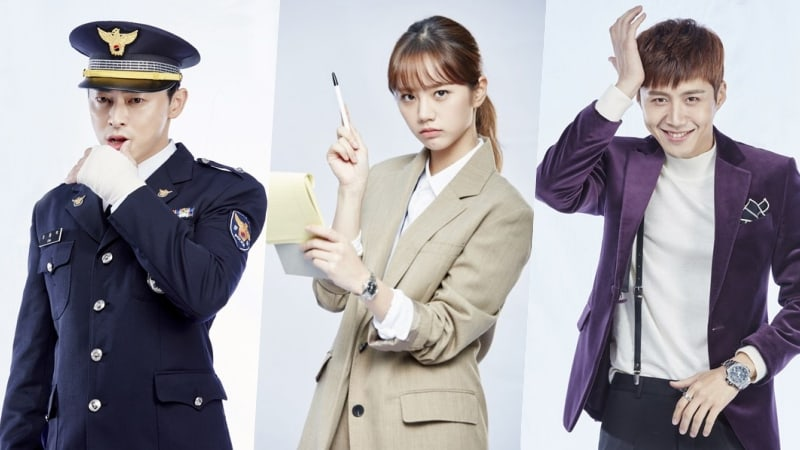 """Two Cops"" Unveils Posters Previewing Relationships Between Jo Jung Suk, Girl's Day Hyeri, And Kim Sun Ho's Characters"
