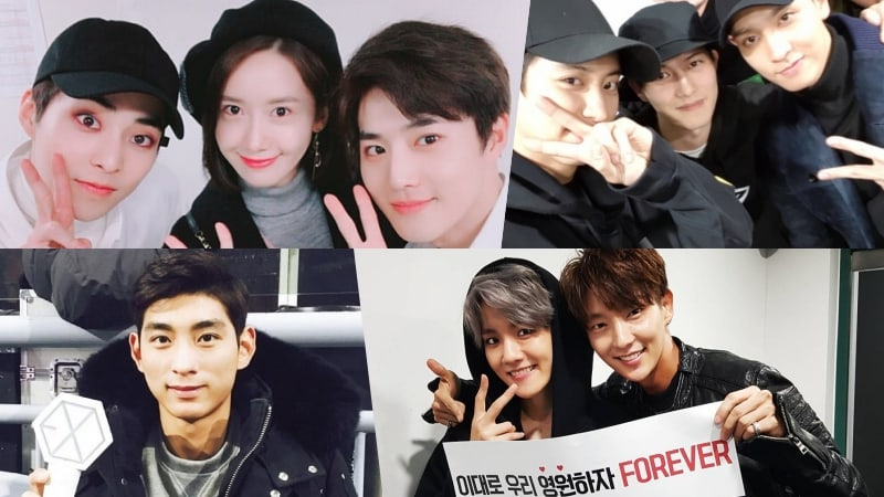 Celebrities Show Support At EXO's Concert In Seoul