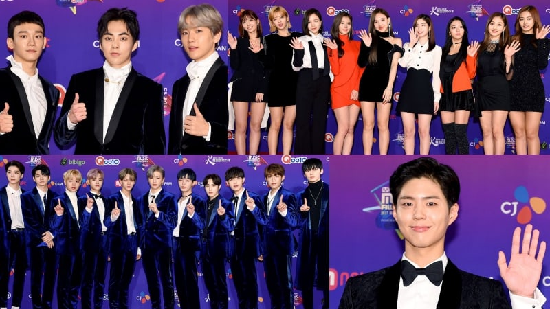 Stars Rock The Red Carpet At 2017 MAMA In Japan