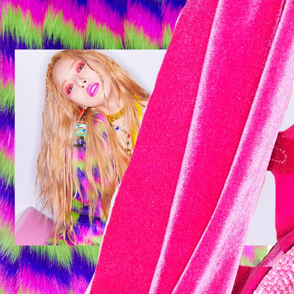 "Update: HyunA Reveals Funky New Concept Photos For ""Lip & Hip"""