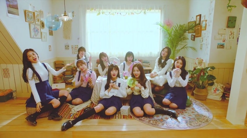 "Watch: ""Idol School"" Girl Group fromis_9 Surprises With Sweet Pre-Debut ""Glass Shoes"" MV"