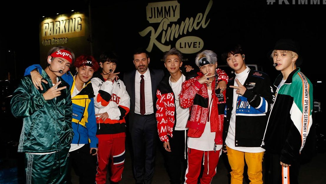 "Watch: BTS Kills It At ""Jimmy Kimmel Live"" Mini-Concert"