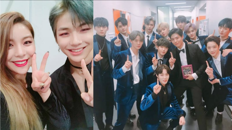 Wanna One Members Snap Photos With Park Bo Gum And Ailee