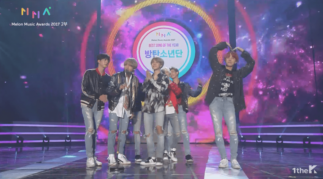 BTS Wins Best Song Of The Year At The 2017 Melon Music Awards, Total Of Five Awards