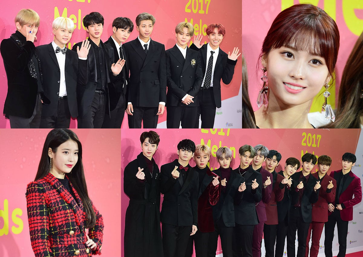 Stars Show Up To Celebrate A Night Of Music At The 2017 Melon Music Awards