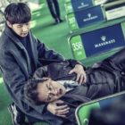 """Kim Byung Ok And Park Sung Hoon Are Cold Father And Son In """"Black Knight"""" Stills"""