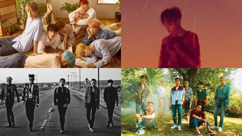BTS, G-Dragon, BIGBANG, And EXO Set New Record For K-Pop On Billboard's World Albums 2017 Year-End Chart