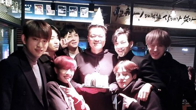GOT7 Surprises Park Jin Young For His Birthday