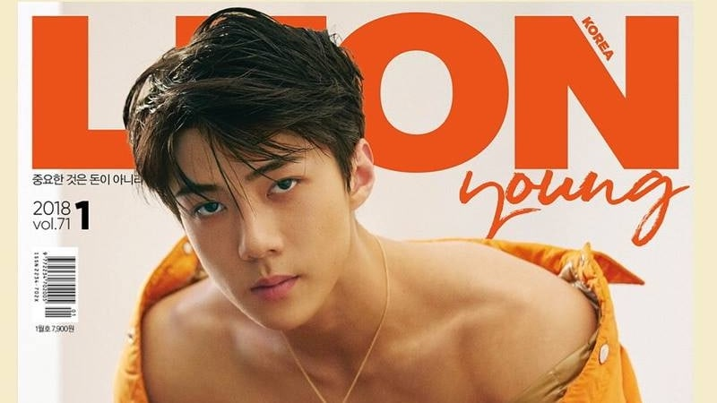 EXO's Sehun Reveals His Six-Pack On The Cover Of Leon Korea Magazine