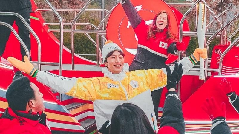 Lee Kwang Soo Has Fun As A 2018 Pyeongchang Olympics Torchbearer