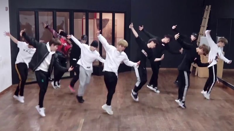 """Watch: Wanna One Impresses With Dance Practice Video For """"Beautiful"""""""