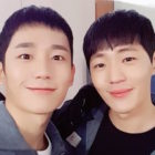 "Jung Hae In And Shin Jae Ha Reunite On Set Of ""Prison Playbook"""