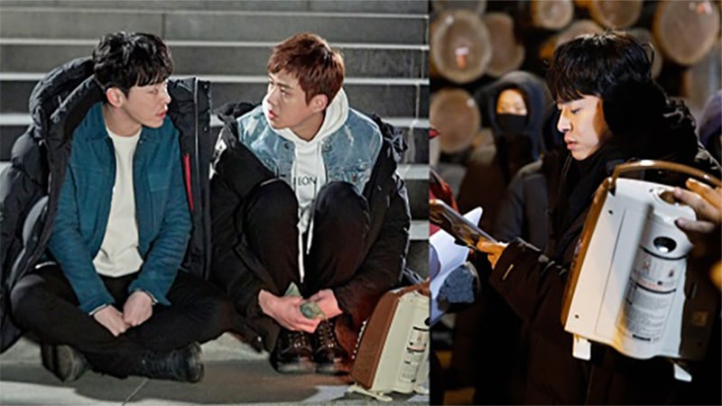 "Jo Jung Suk, Hyeri, And Kim Sun Ho Bond Despite Freezing Weather On Set Of ""Two Cops"""