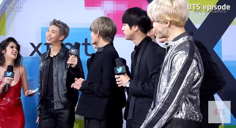 Watch: BTS Is Nervous And Meets Famous Celebrities Behind The Scenes Of The AMAs