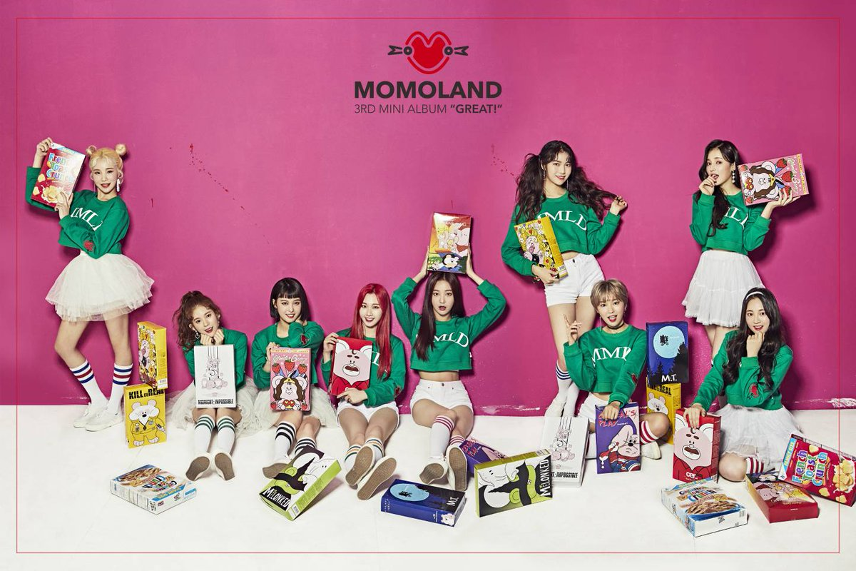 """Update: MOMOLAND Gives Sneak Preview Of New Mini Album """"Great!"""""""