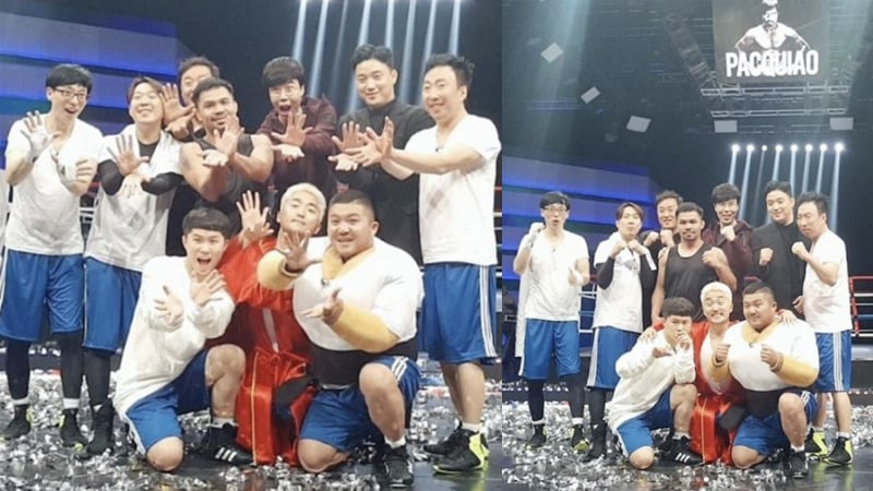 """""""Infinite Challenge"""" Wraps Up Filming With Manny Pacquiao + Confirms Episode Air Date"""