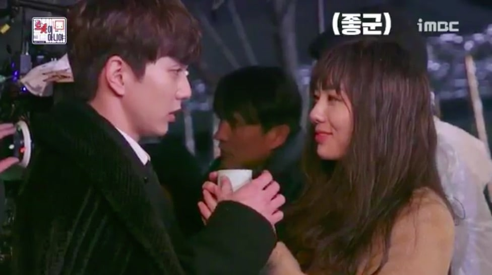 "Watch: Yoo Seung Ho And Chae Soo Bin Are Cold But Cozy Behind The Scenes Of ""I Am Not A Robot"""