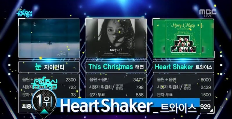 "Watch: TWICE Gets 3rd Win For ""Heart Shaker"" On ""Music Core,"" Performances By MONSTA X, Lovelyz, ASTRO, And More"
