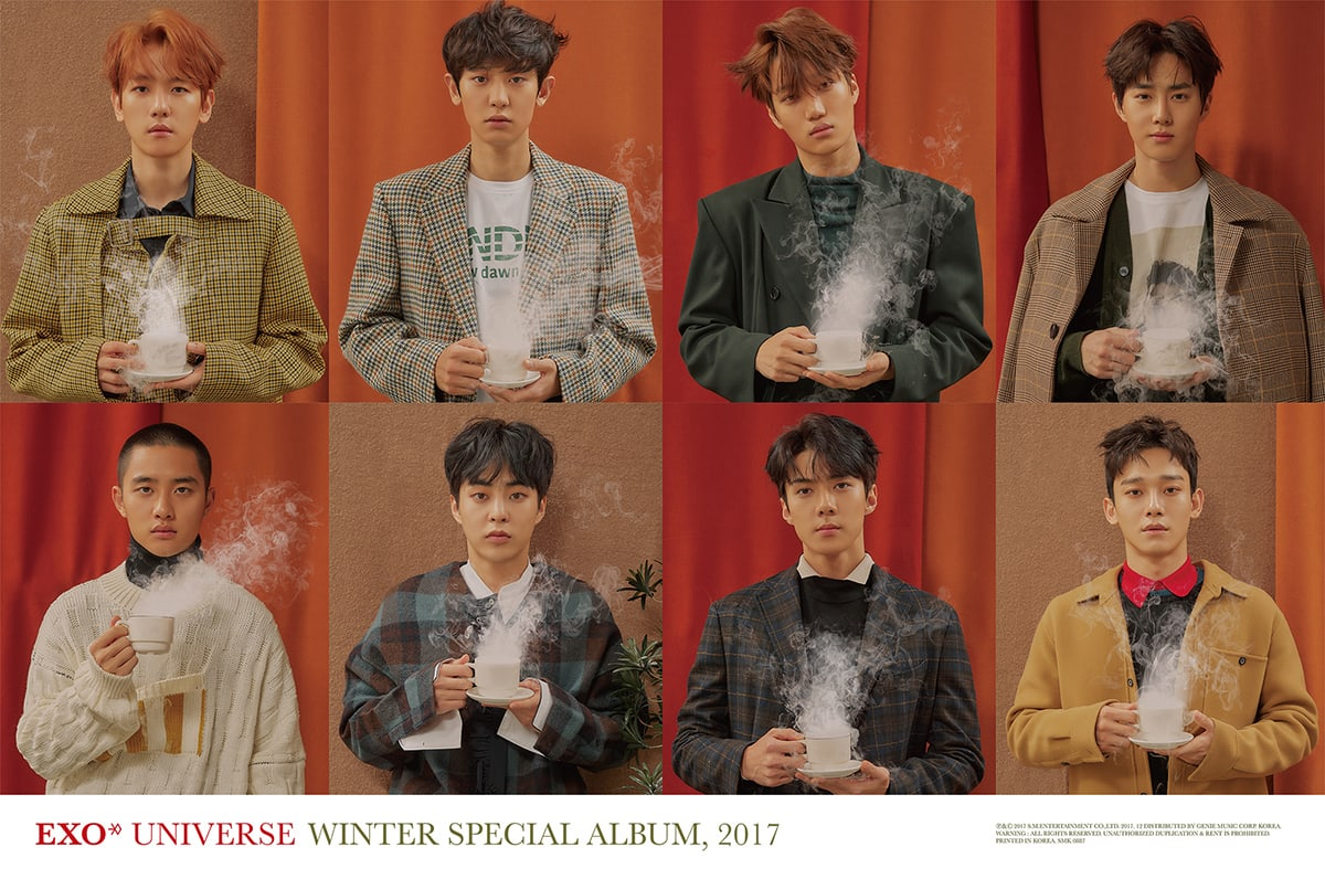 """Update: EXO Drops New Batch Of Individual Teasers Ahead Of """"Universe"""" Release"""