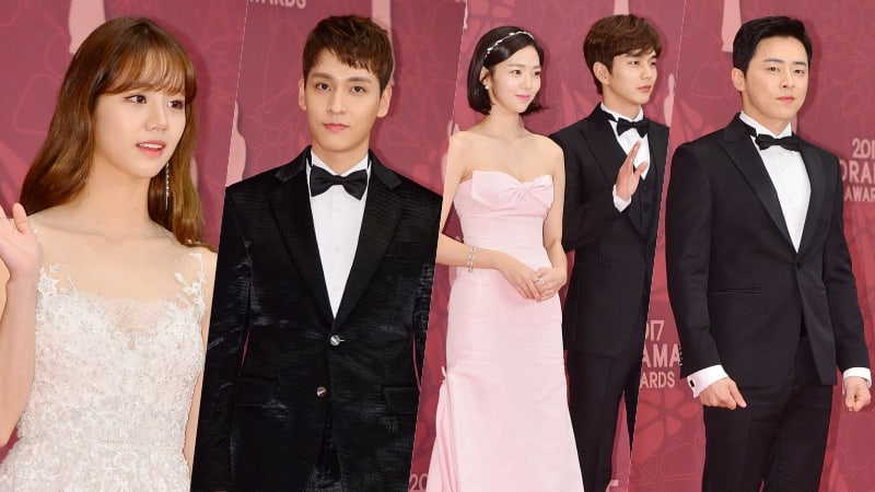 Stars Grace The Red Carpet At The 2017 MBC Drama Awards